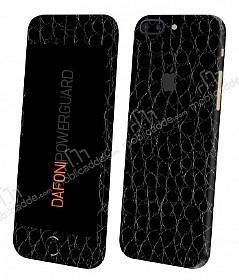 Dafoni PowerGuard iPhone 7 Plus Ön + Arka + Yan Siyah Timsah Derisi Kaplama Sticker