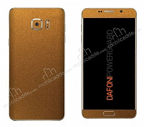 Dafoni PowerGuard Samsung Galaxy Note 5 Ön + Arka Gold Kaplama Sticker