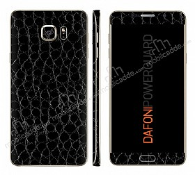 Dafoni PowerGuard Samsung Galaxy Note 5 Ön + Arka + Yan Siyah Timsah Derisi Kaplama Sticker