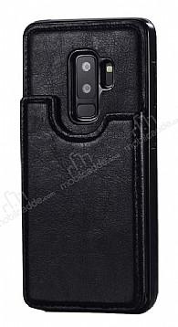 Dafoni Retro Samsung Galaxy S9 Plus Cüzdanlı Siyah Rubber Kılıf
