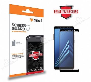 Dafoni Samsung Galaxy A8 Plus 2018 Curve Slim Triple Shield Siyah Ekran Koruyucu