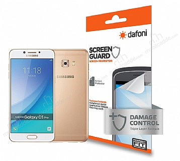 Dafoni Samsung Galaxy C5 Pro Ön + Arka Darbe Emici Full Ekran Koruyucu Film
