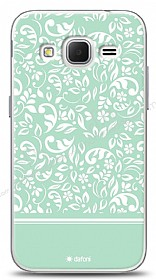 Samsung Galaxy Core Prime Green Flower Kılıf
