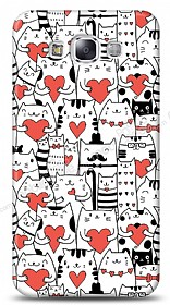 Dafoni Samsung Galaxy E7 Love Cats K�l�f