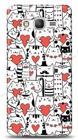 Samsung Galaxy Grand Prime Love Cats Kılıf