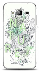 Dafoni Samsung Galaxy J3 2016 Nature Flower K�l�f