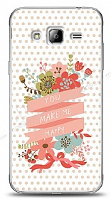 Dafoni Samsung Galaxy J3 2016 You Make Me Happy Kılıf