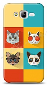 Dafoni Samsung Galaxy J5 Four Cats K�l�f
