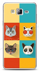 Samsung Galaxy On7 Four Cats Kılıf