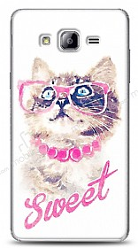 Dafoni Samsung Galaxy On7 Sweet Cat Kılıf
