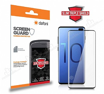 Dafoni Samsung Galaxy S10e Full Slim Triple Shield Siyah Ekran Koruyucu