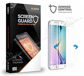 Dafoni Samsung Galaxy S6 Edge Curve Darbe Emici Beyaz Ekran Koruyucu Film