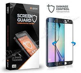 Dafoni Samsung Galaxy S6 Edge Curve Darbe Emici Siyah Ekran Koruyucu Film