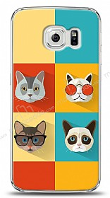 Samsung Galaxy S6 edge Four Cats Kılıf