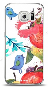 Dafoni Samsung Galaxy S6 edge Water Color Kiss K�l�f