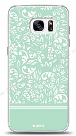 Samsung Galaxy S7 Edge Green Flower Kılıf