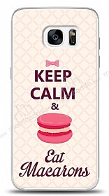 Dafoni Samsung Galaxy S7 Edge Keep Calm And Eat Macaron K�l�f