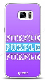 Dafoni Samsung Galaxy S7 Edge Purple Design Kılıf