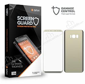 Dafoni Samsung Galaxy S8 Curve Darbe Emici Gold Ön+Arka Ekran Koruyucu Film