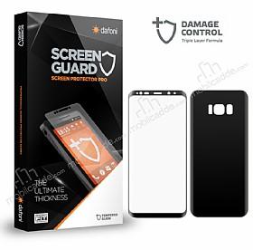 Dafoni Samsung Galaxy S8 Curve Darbe Emici Siyah Ön+Arka Ekran Koruyucu Film
