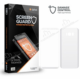 Dafoni Samsung Galaxy S8 Plus Curve Darbe Emici Beyaz Ön+Arka Ekran Koruyucu Film