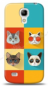 Samsung i9190 Galaxy S4 mini Four Cats Kılıf