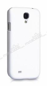 Eiroo Samsung i9500 Galaxy S4 Sert Mat Beyaz Rubber Kılıf