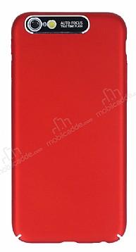 Dafoni Shade iPhone 7 / 8 Kamera Korumalı Kırmızı Rubber Kılıf
