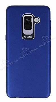 Dafoni Shade Samsung Galaxy A8 Plus 2018 Kamera Korumalı Lacivert Rubber Kılıf