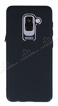 Dafoni Shade Samsung Galaxy A8 Plus 2018 Kamera Korumalı Siyah Rubber Kılıf