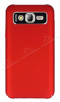 Dafoni Shade Samsung Galaxy J7 Kamera Korumalı Kırmızı Rubber Kılıf