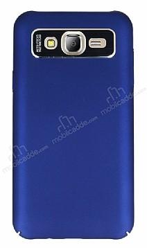 Dafoni Shade Samsung Galaxy J7 Kamera Korumalı Lacivert Rubber Kılıf