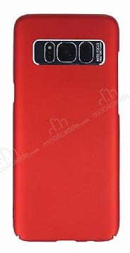Dafoni Shade Samsung Galaxy S8 Kamera Korumalı Kırmızı Rubber Kılıf