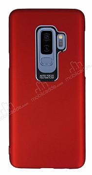 Dafoni Shade Samsung Galaxy S9 Plus Kamera Korumalı Kırmızı Rubber Kılıf
