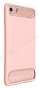 Dafoni Slim Frost iPhone 7 Ultra Koruma Pembe Kılıf
