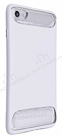 Dafoni Slim Frost iPhone 7 Ultra Koruma Beyaz Kılıf