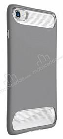 Dafoni Slim Frost iPhone 7 Ultra Koruma Gri Kılıf