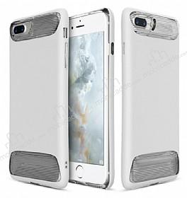 Dafoni Slim Frost iPhone 7 Plus / 8 Plus Ultra Koruma Beyaz Kılıf