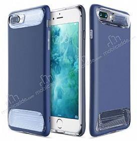 Dafoni Slim Frost iPhone 7 Plus Ultra Koruma Lacivert Kılıf