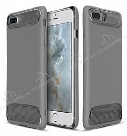 Dafoni Slim Frost iPhone 7 Plus / 8 Plus Ultra Koruma Gri Kılıf