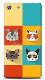 Sony Xperia M5 Four Cats Kılıf