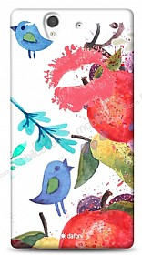Dafoni Sony Xperia Z Water Color Kiss K�l�f