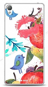 Dafoni Sony Xperia Z3 Water Color Kiss K�l�f