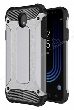 Dafoni Tough Power Samsung Galaxy J7 Pro 2017 Ultra Koruma Silver Kılıf