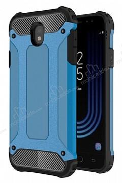 Dafoni Tough Power Samsung Galaxy J7 Pro 2017 Ultra Koruma Mavi Kılıf