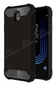 Dafoni Tough Power Samsung Galaxy J7 Pro 2017 Ultra Koruma Siyah Kılıf