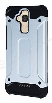 Dafoni Tough Power Asus Zenfone 3 Max ZC520TL Ultra Koruma Silver Kılıf