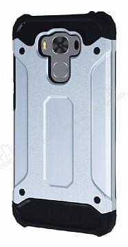 Dafoni Tough Power Asus ZenFone 3 Max ZC553KL Ultra Koruma Silver Kılıf