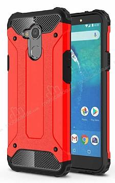 Dafoni Tough Power General Mobile GM 8 Ultra Koruma Kırmızı Kılıf