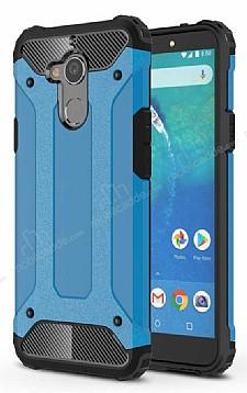 Tough Power General Mobile GM 8 Ultra Koruma Mavi Kılıf